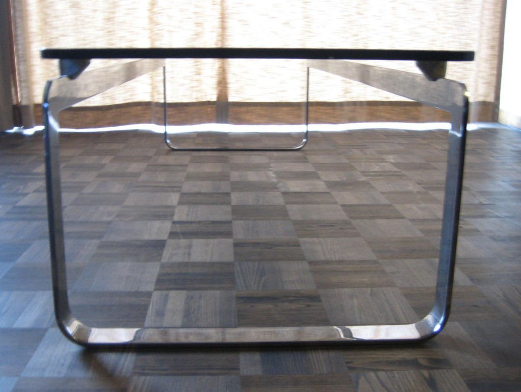 Vintage large rectangular smoked glass coffee table for for Large glass coffee table
