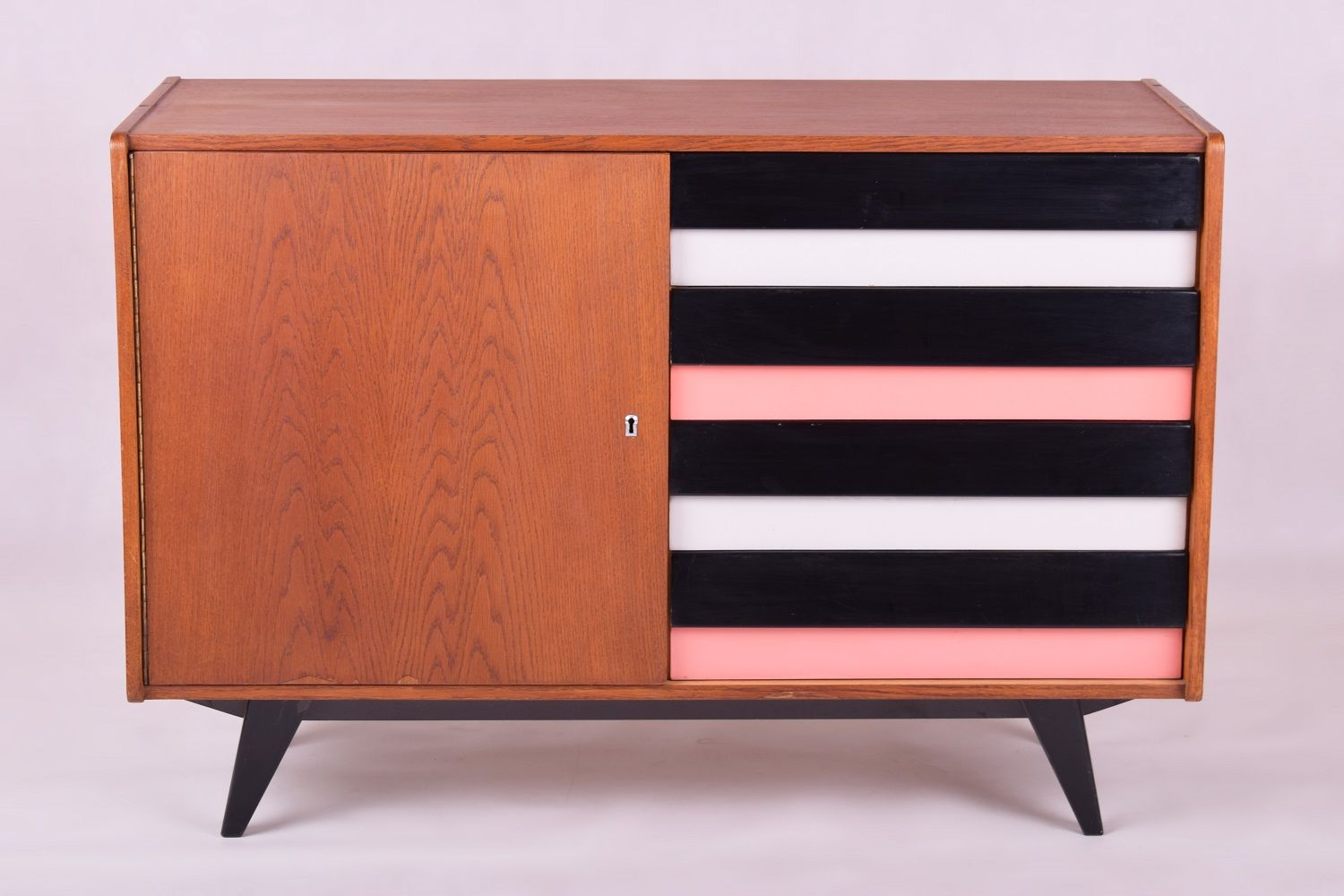 commode by jiri jiroutek for interior praha 1950s for. Black Bedroom Furniture Sets. Home Design Ideas