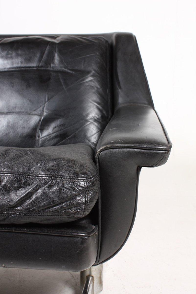 d nisches 2 sitzer ledersofa 1960er bei pamono kaufen. Black Bedroom Furniture Sets. Home Design Ideas