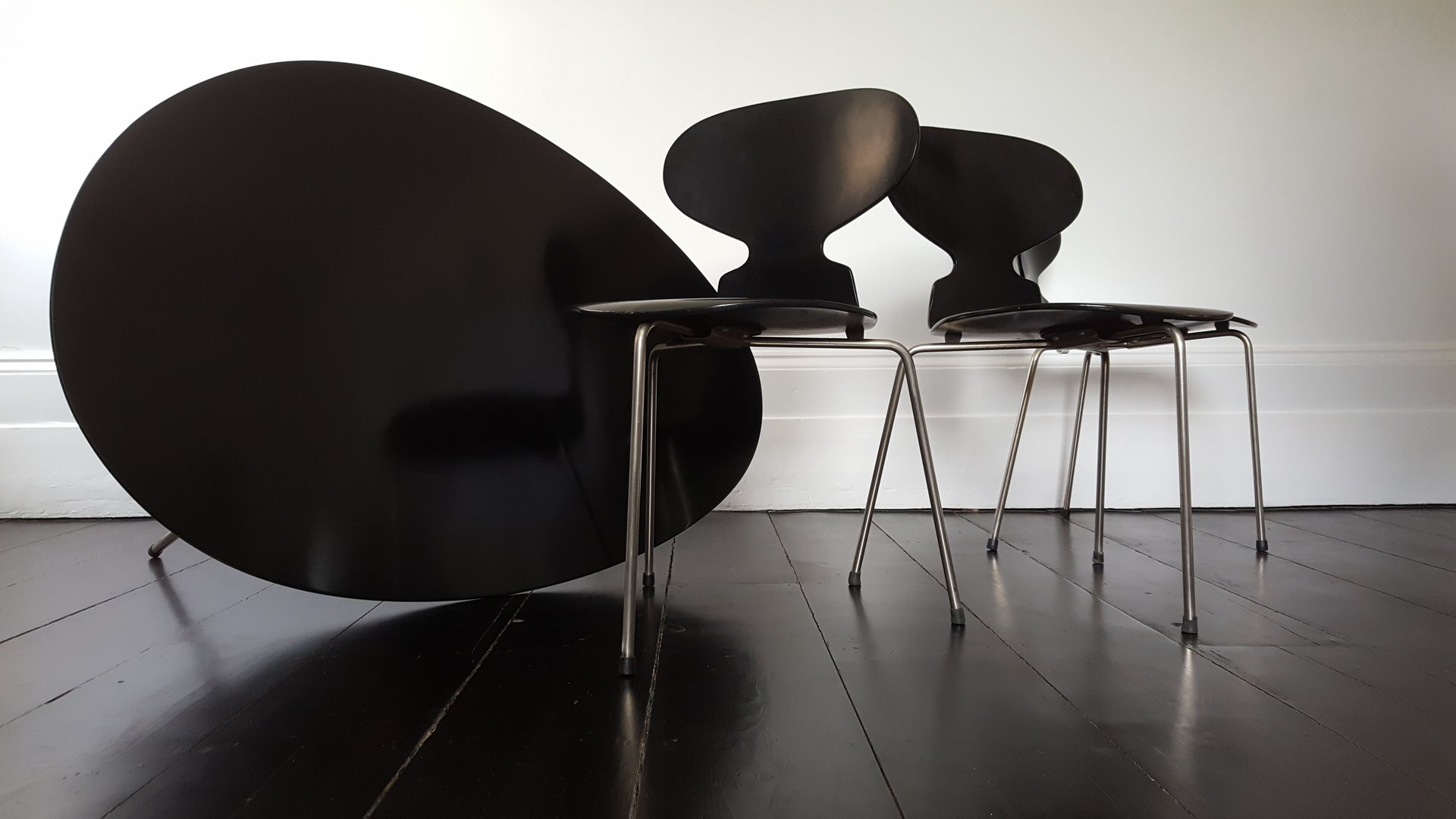 egg tisch ant st hle esszimmer set von arne jacobsen f r fritz hansen 1950er bei pamono kaufen. Black Bedroom Furniture Sets. Home Design Ideas