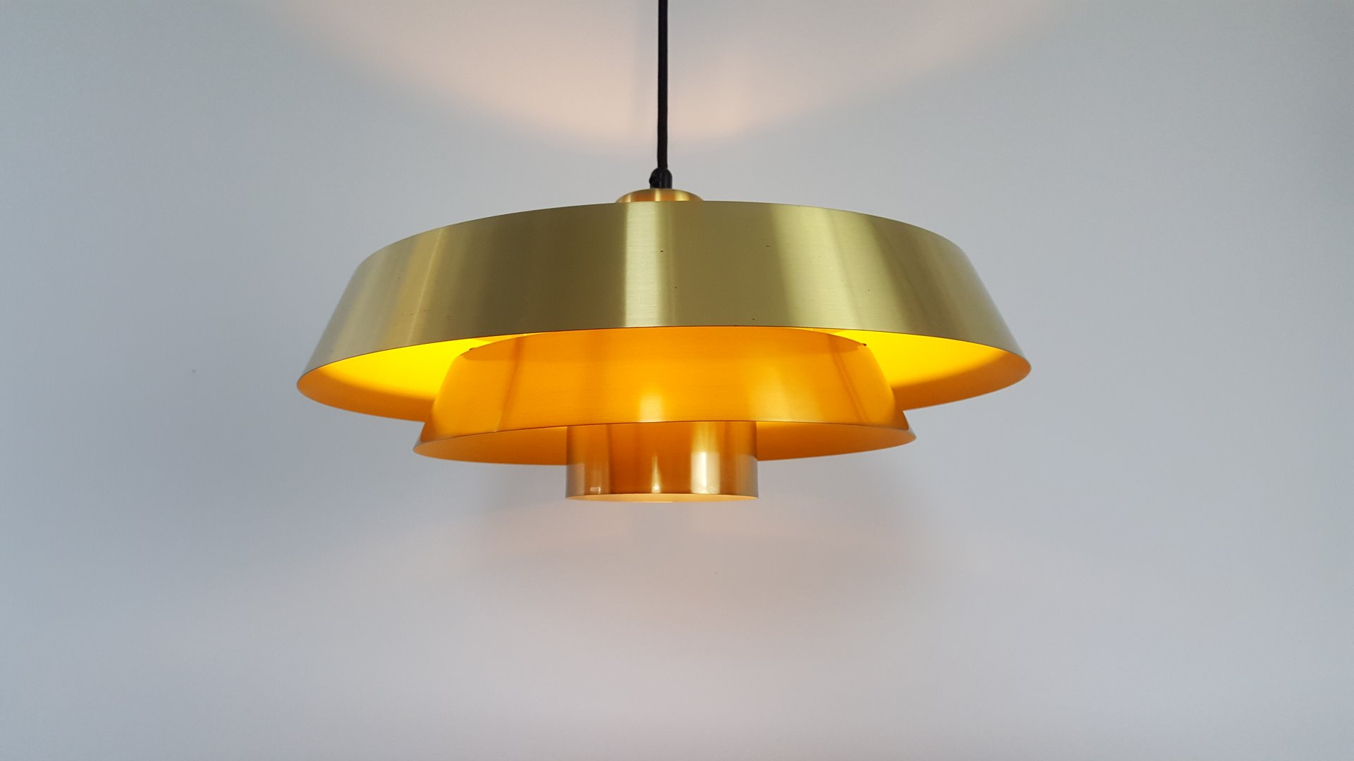 Nova Brass Pendant Light By Jo Hammerborg For Fog M Rup