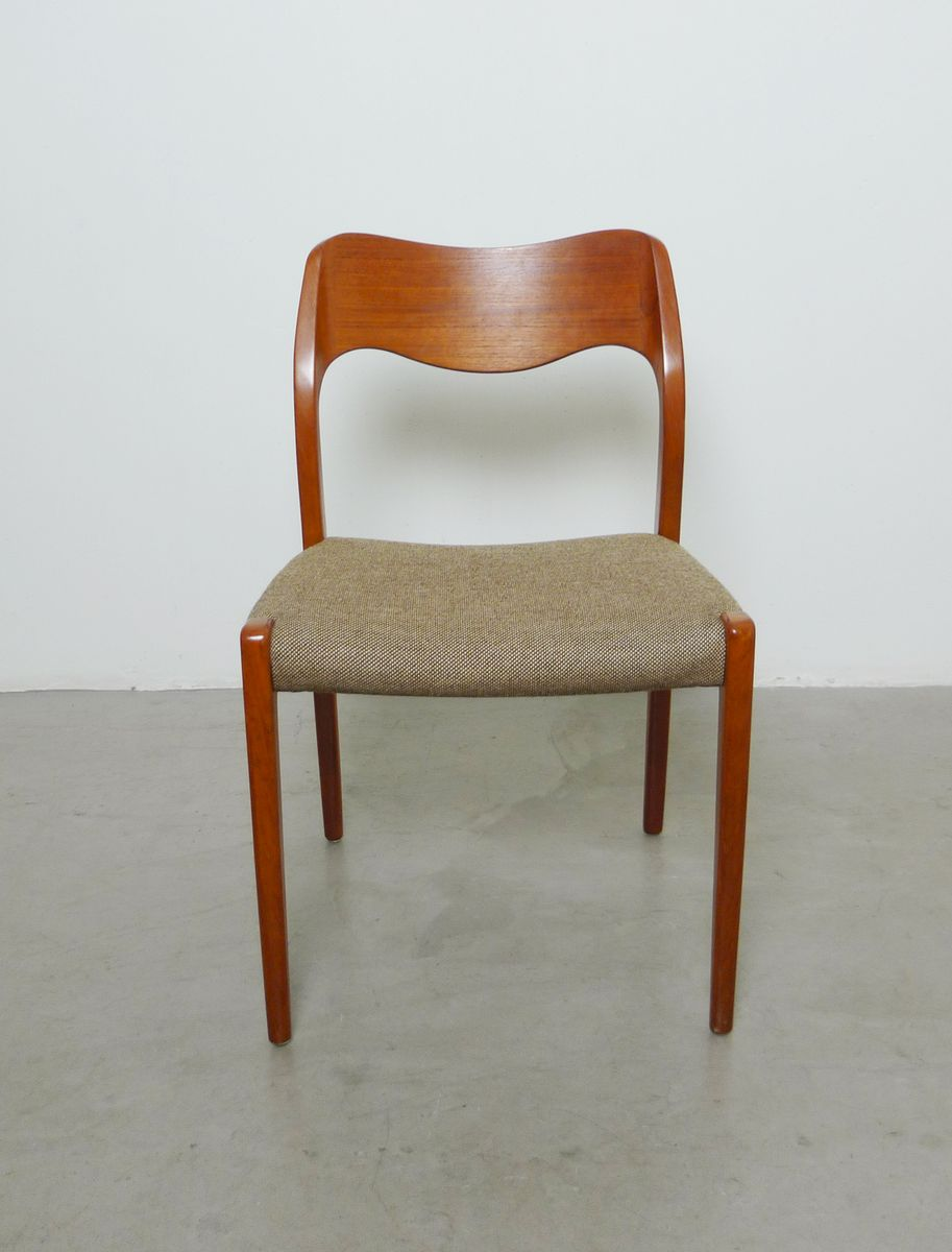 Danish Model 71 Teak Dining Chairs By Niels Otto Moller For J L M Llers 196