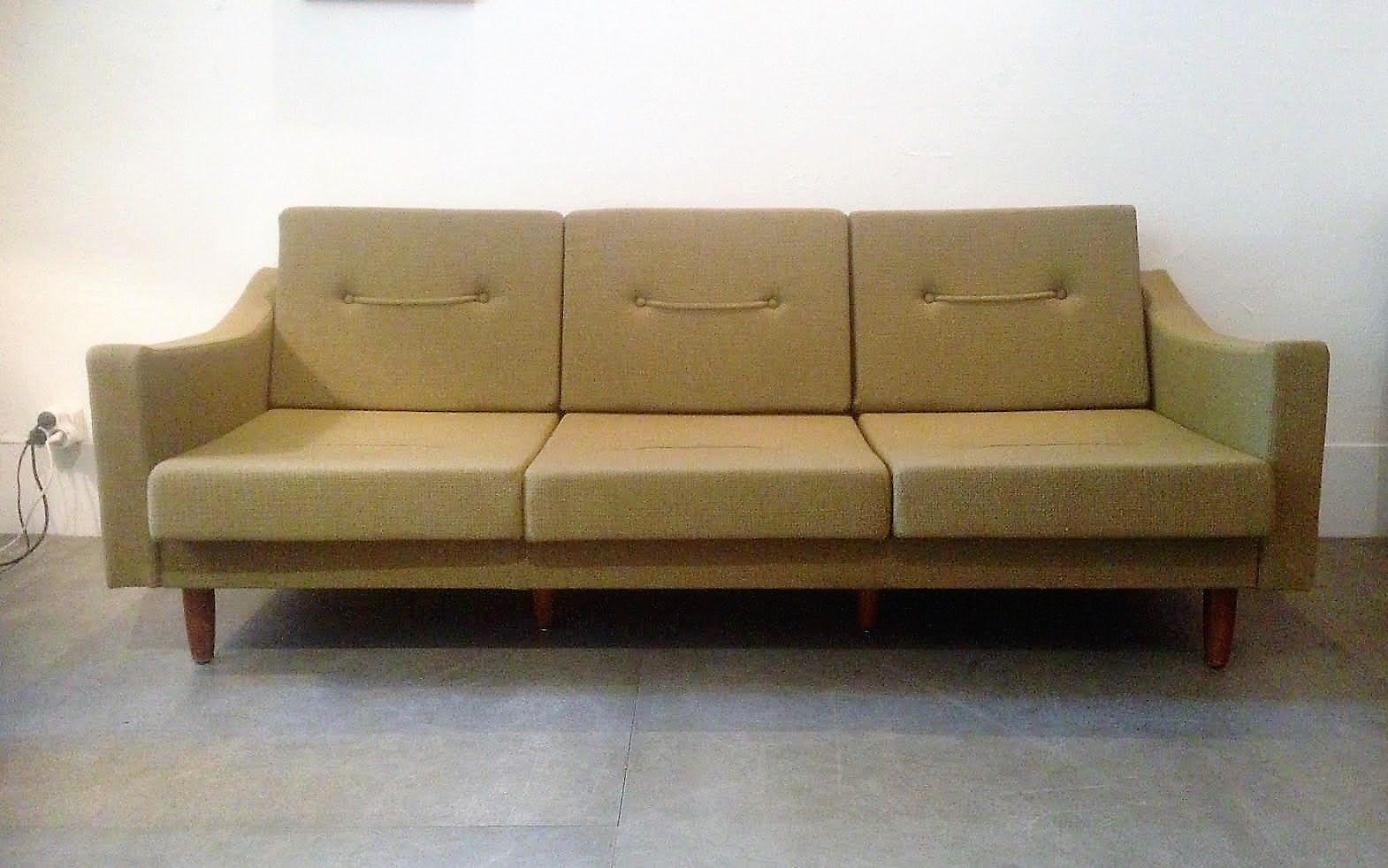 vintage 3 sitzer sofa von steiner 1960er bei pamono kaufen. Black Bedroom Furniture Sets. Home Design Ideas
