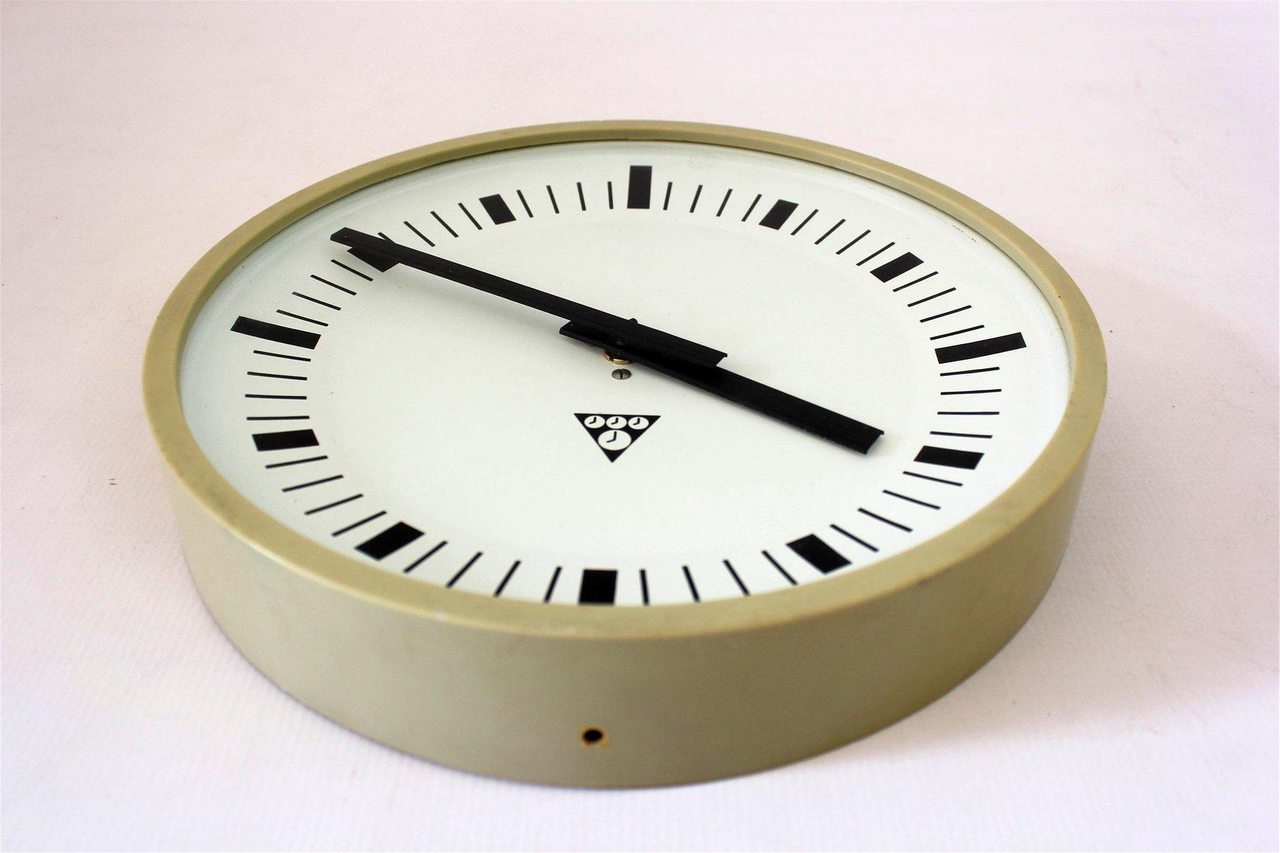Vintage Railway Clock By Pragotron 1970s For Sale At Pamono