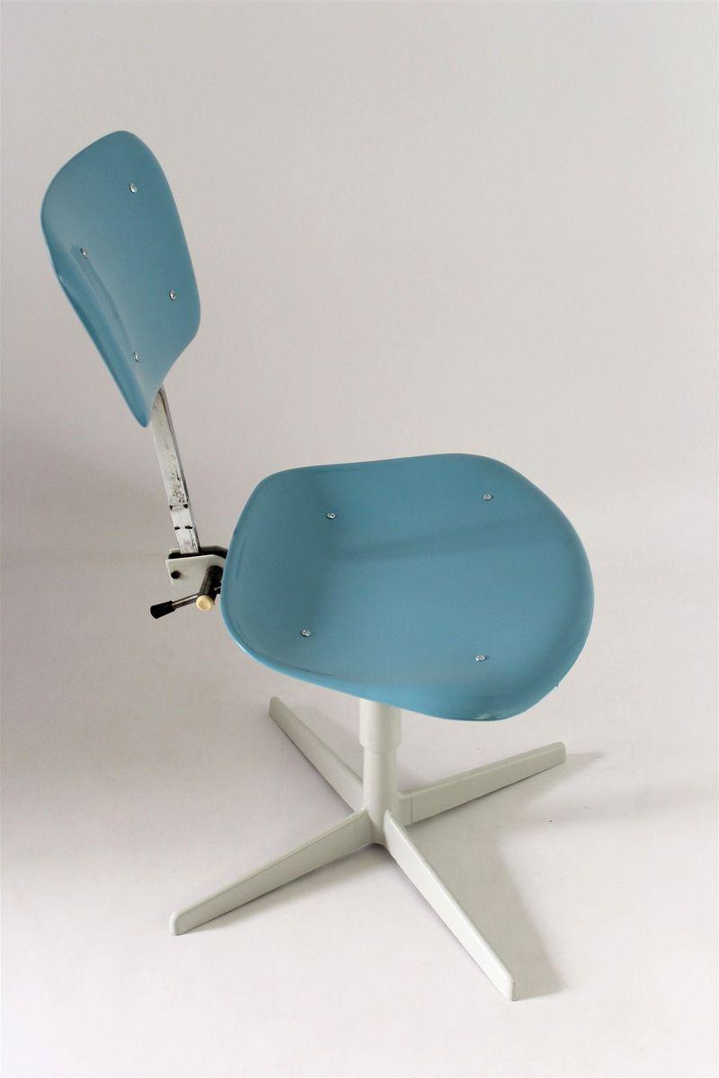 industrieller stuhl aus stahl plastik 1970er bei pamono kaufen. Black Bedroom Furniture Sets. Home Design Ideas