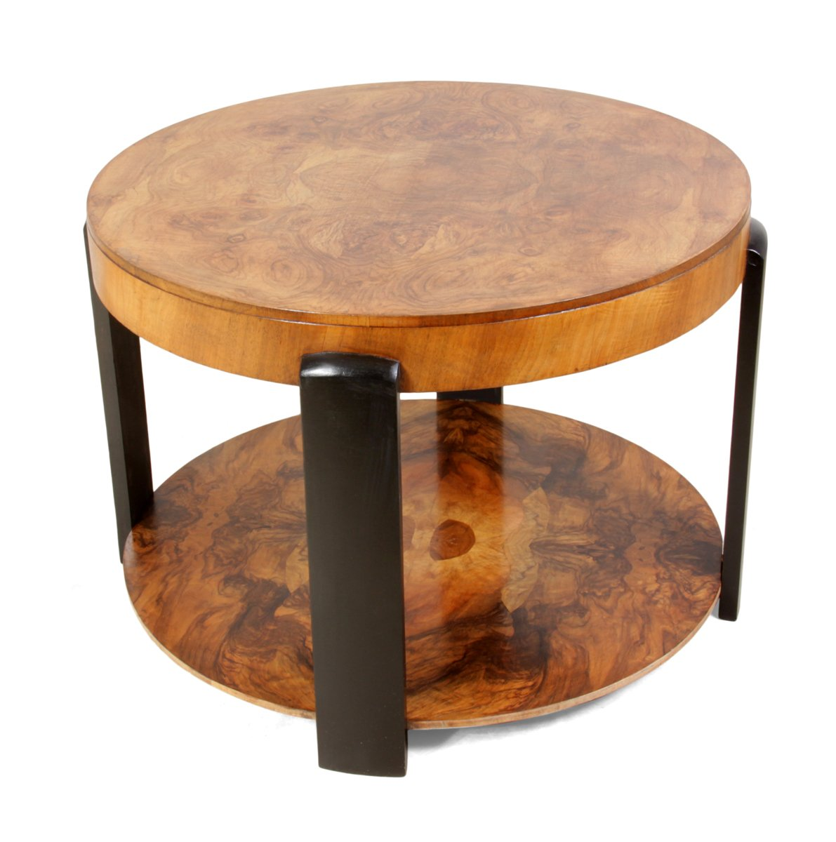 art deco walnut coffee table 1930s for sale at pamono. Black Bedroom Furniture Sets. Home Design Ideas
