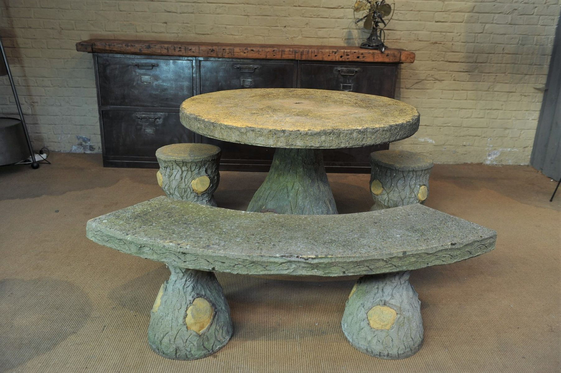 Faux wooden garden set 1930s for sale at pamono for Garden design 1930