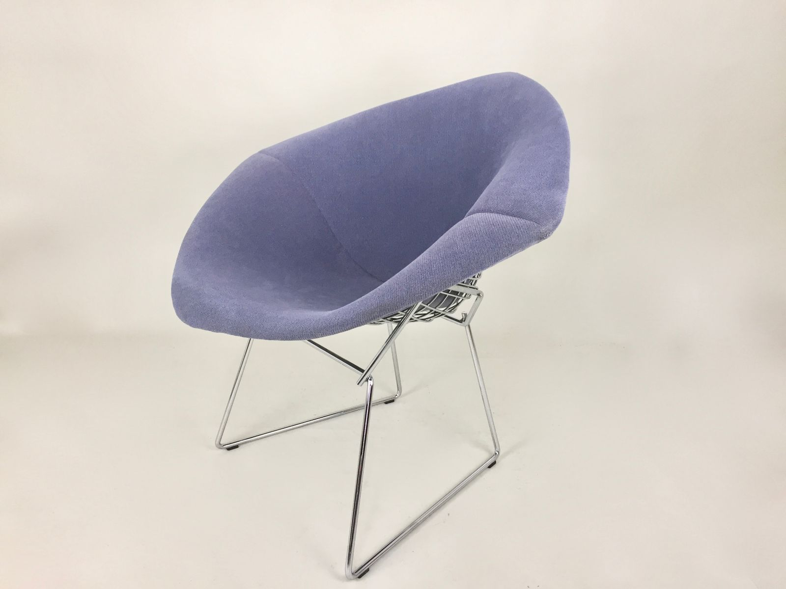 chaise blue diamond vintage par harry bertoia pour knoll en vente sur pamono. Black Bedroom Furniture Sets. Home Design Ideas