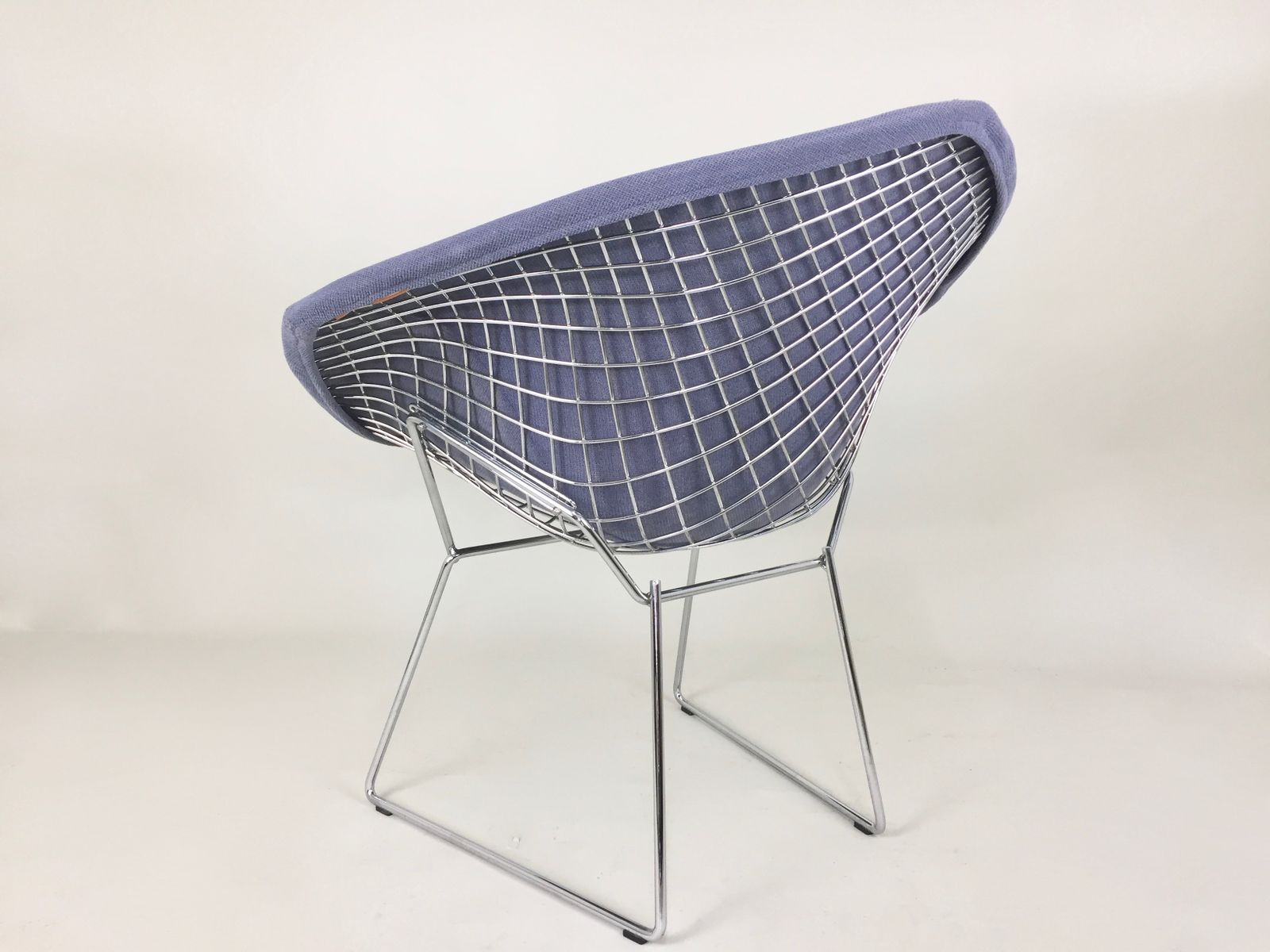 Bertoia diamond chair vintage - Vintage Blue Diamond Chair By Harry Bertoia For Knoll
