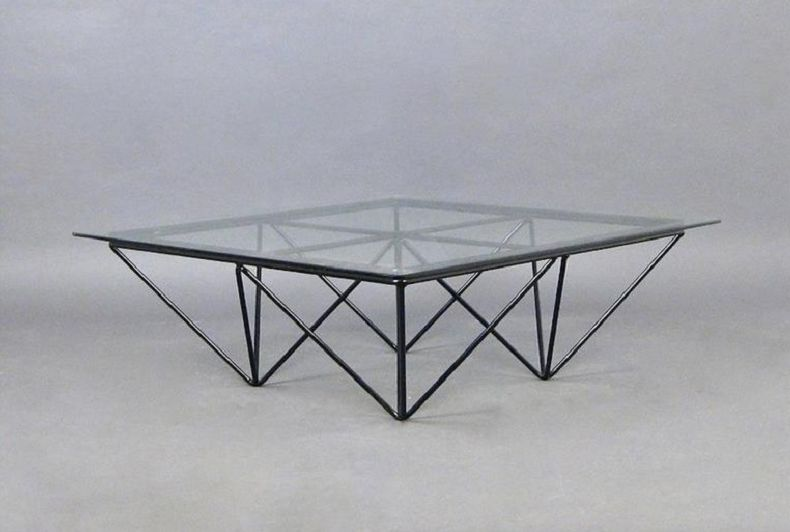 Vintage Steel Wire Coffee Table for sale at Pamono