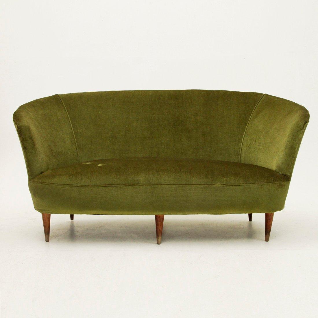 Gr nes italienisches sofa aus samt 1940er bei pamono kaufen for Italienisches sofa