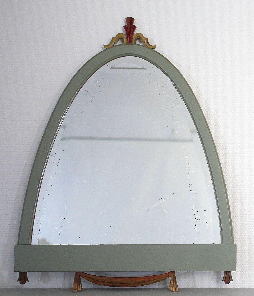 Miroir gustavien en bois et verre taill en vente sur pamono for Miroir en solde