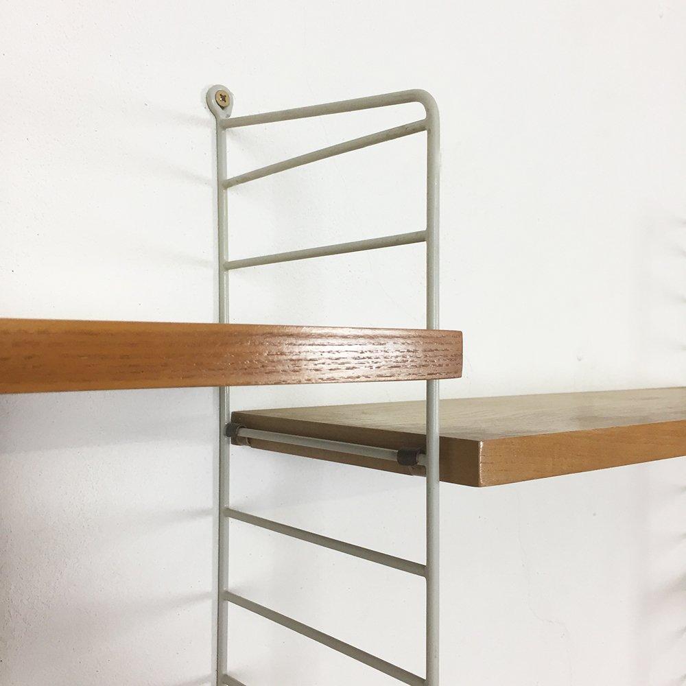 schwedisches eschenholz wandregal von nisse strinning f r string 1960er bei pamono kaufen. Black Bedroom Furniture Sets. Home Design Ideas