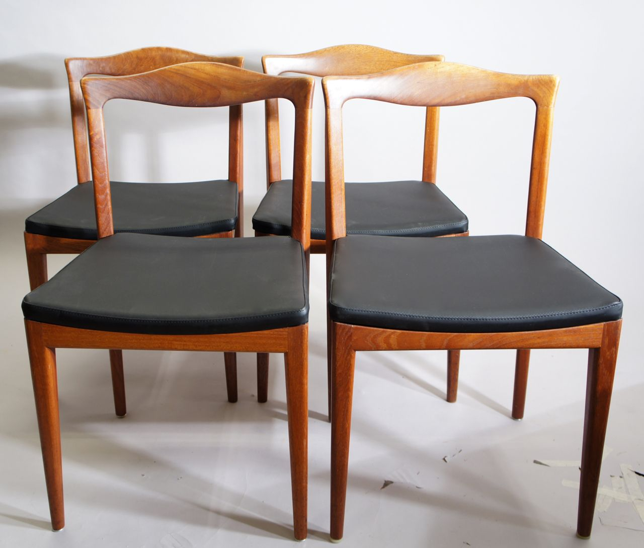 Mid Century Teak Chairs Set Of 4 For Sale At Pamono