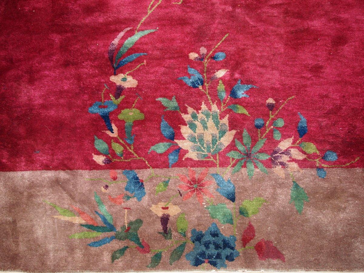 Chinesischer Handgemachter Art Deco Teppich, 1920er bei
