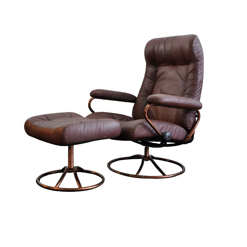 chaise vintage stressless avec repose pieds de ekornes en vente sur pamono. Black Bedroom Furniture Sets. Home Design Ideas