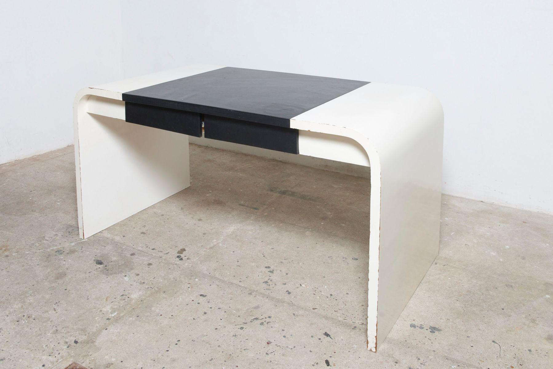 schreibtisch in schwarz wei von de coene 1960er bei pamono kaufen. Black Bedroom Furniture Sets. Home Design Ideas