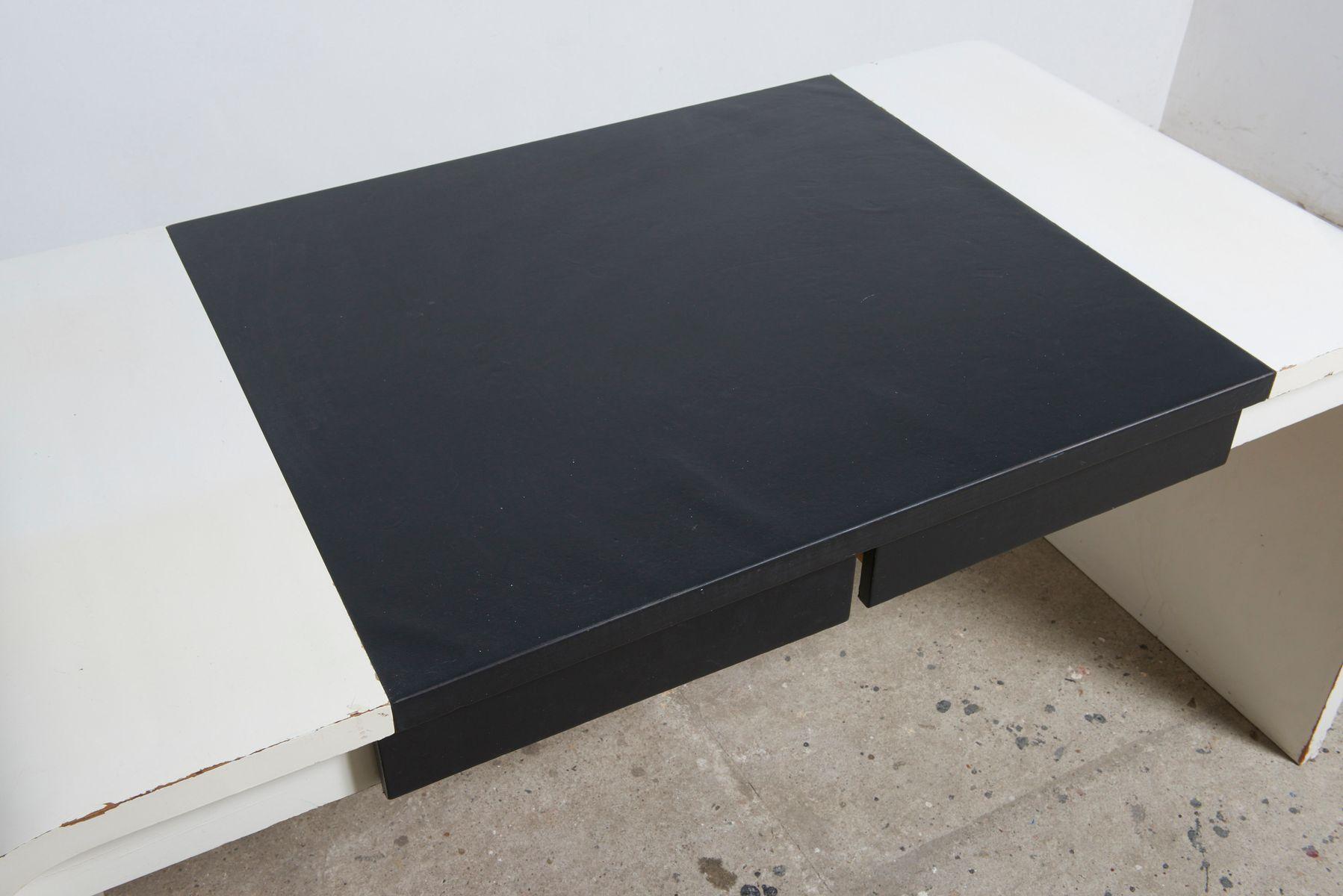 schreibtisch in schwarz wei von de coene 1960er bei. Black Bedroom Furniture Sets. Home Design Ideas