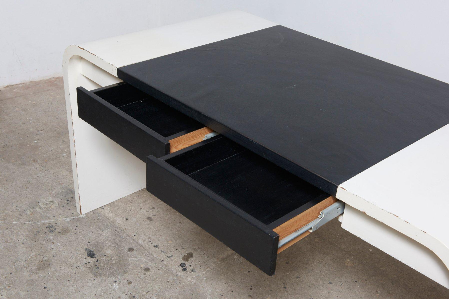 Bureau noir et blanc de de coene 1960s en vente sur pamono for Bureau noir et blanc