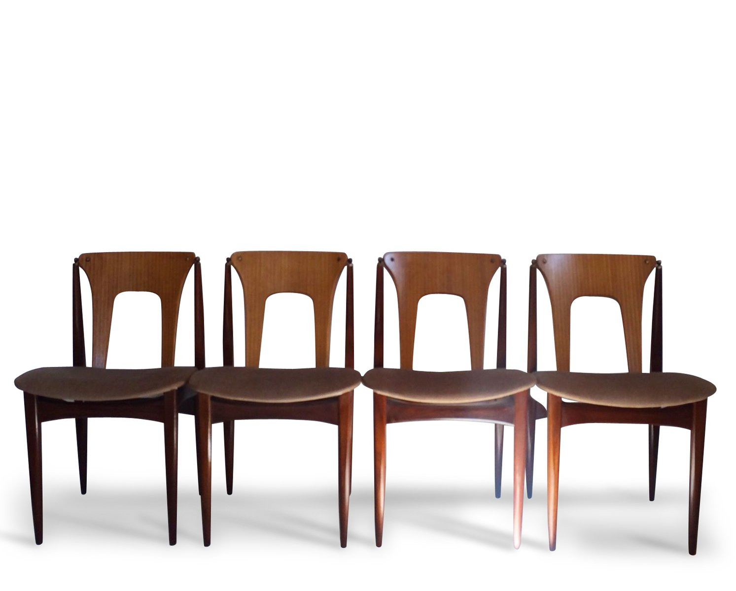 mid-century dining chairs by elliotts of newbury, set of 4 for