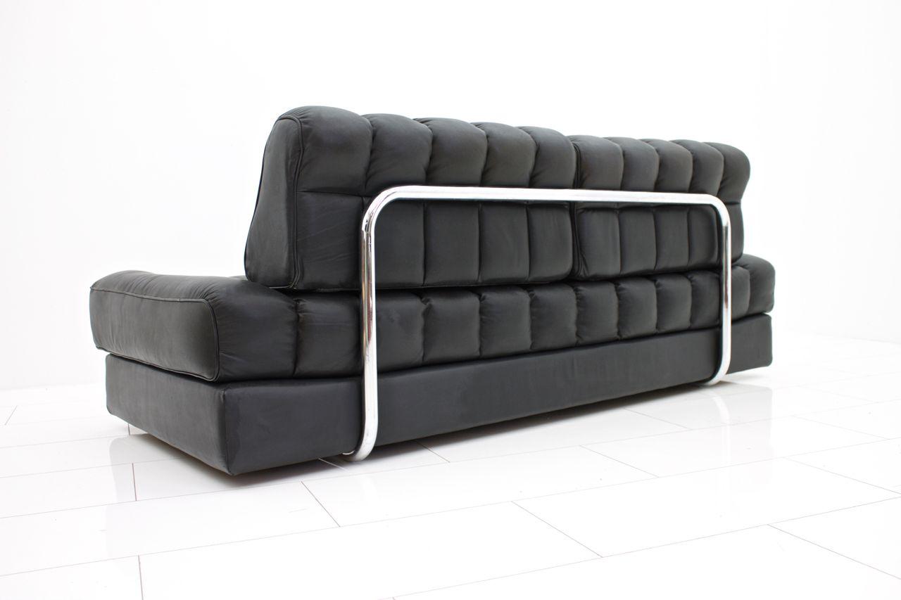 schweizer ds 85 ledersofa tagesbett von de sede 1960er. Black Bedroom Furniture Sets. Home Design Ideas