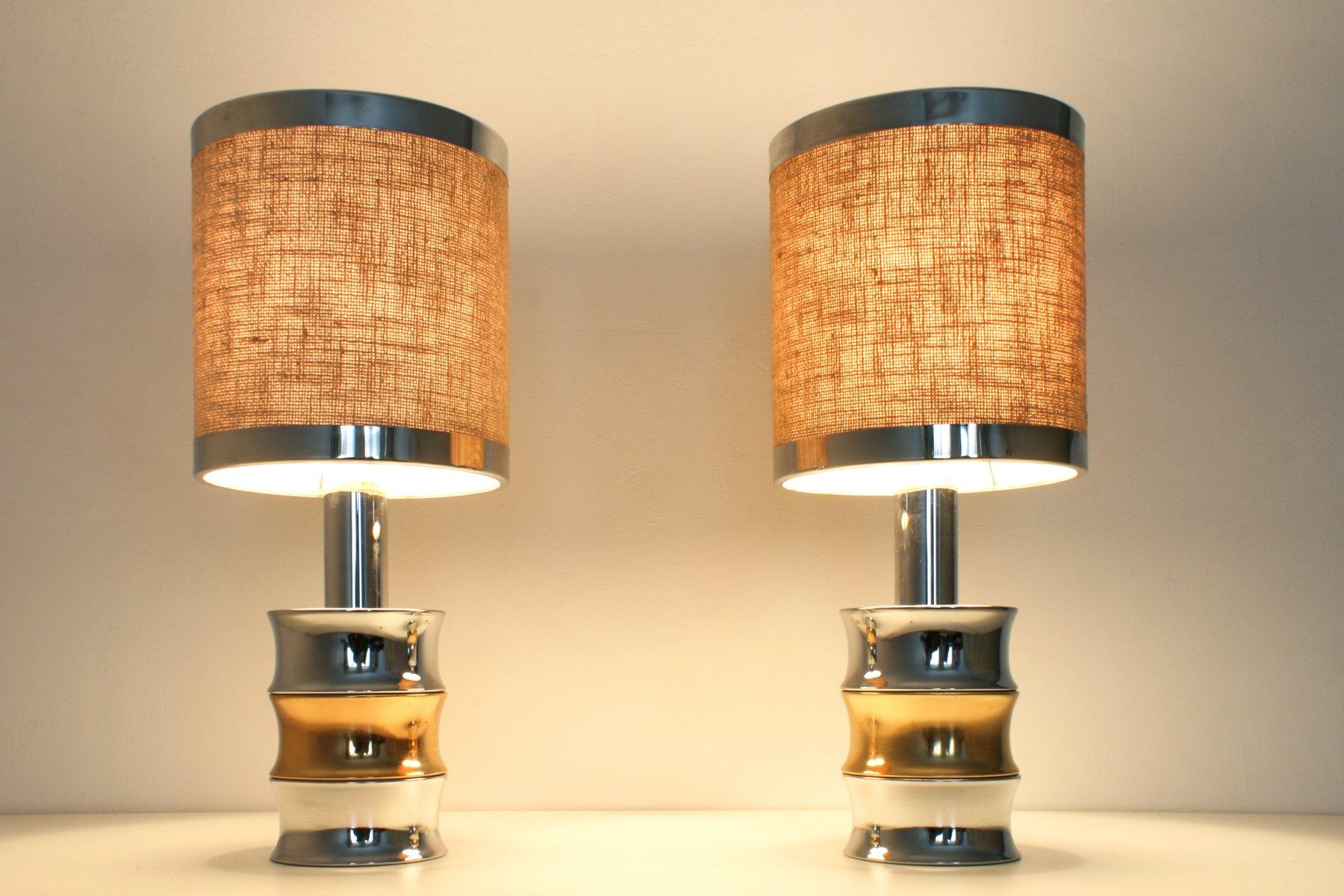 Vintage chrom tischlampen von reggiani 2er set bei pamono for Tischlampen vintage