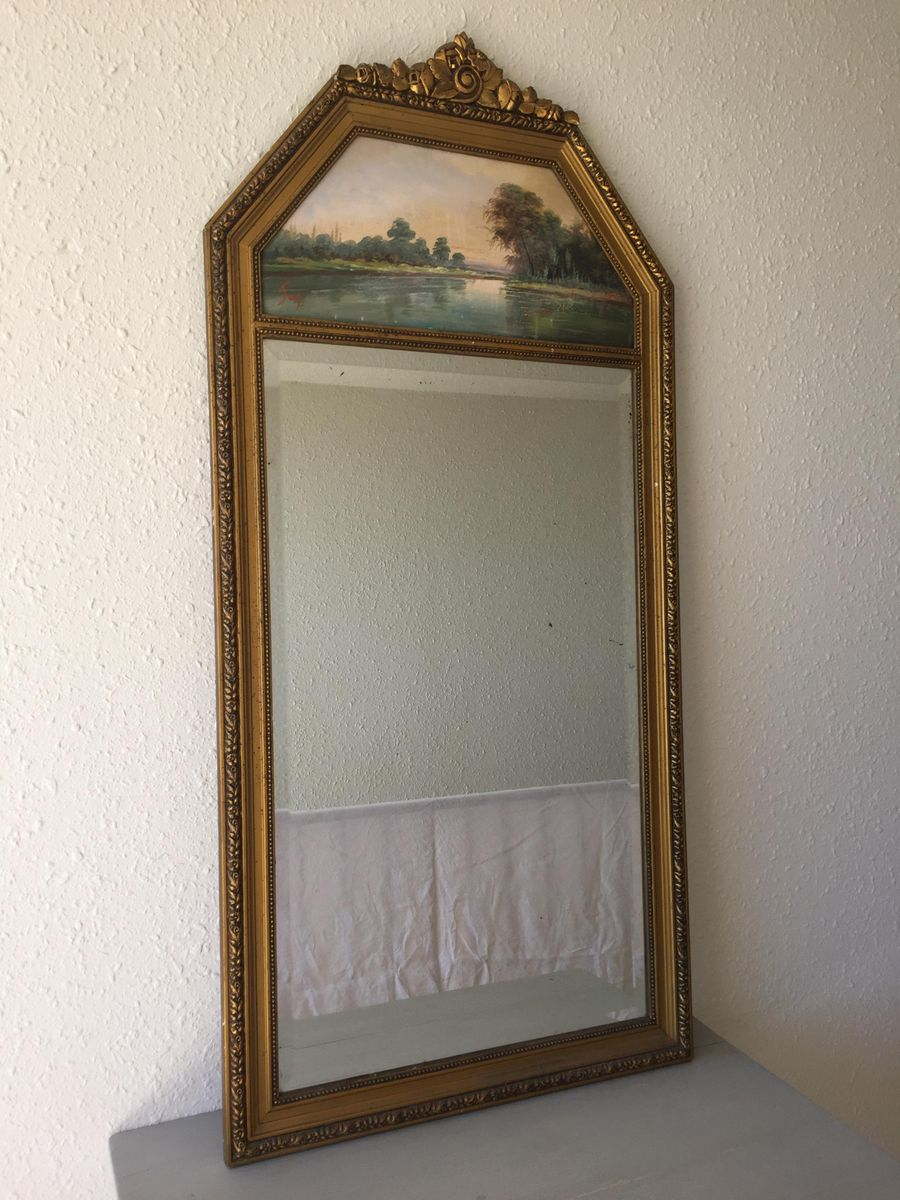 vintage trumeau mirror for sale at pamono. Black Bedroom Furniture Sets. Home Design Ideas