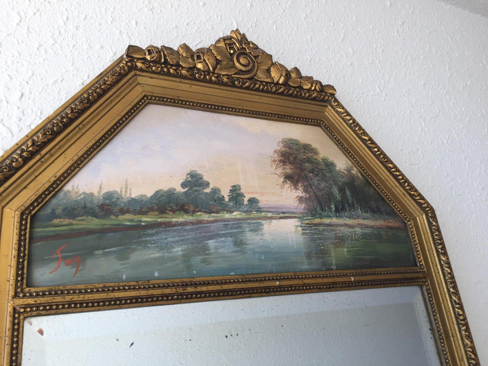 Miroir vintage trumeau en vente sur pamono for Miroir trumeau