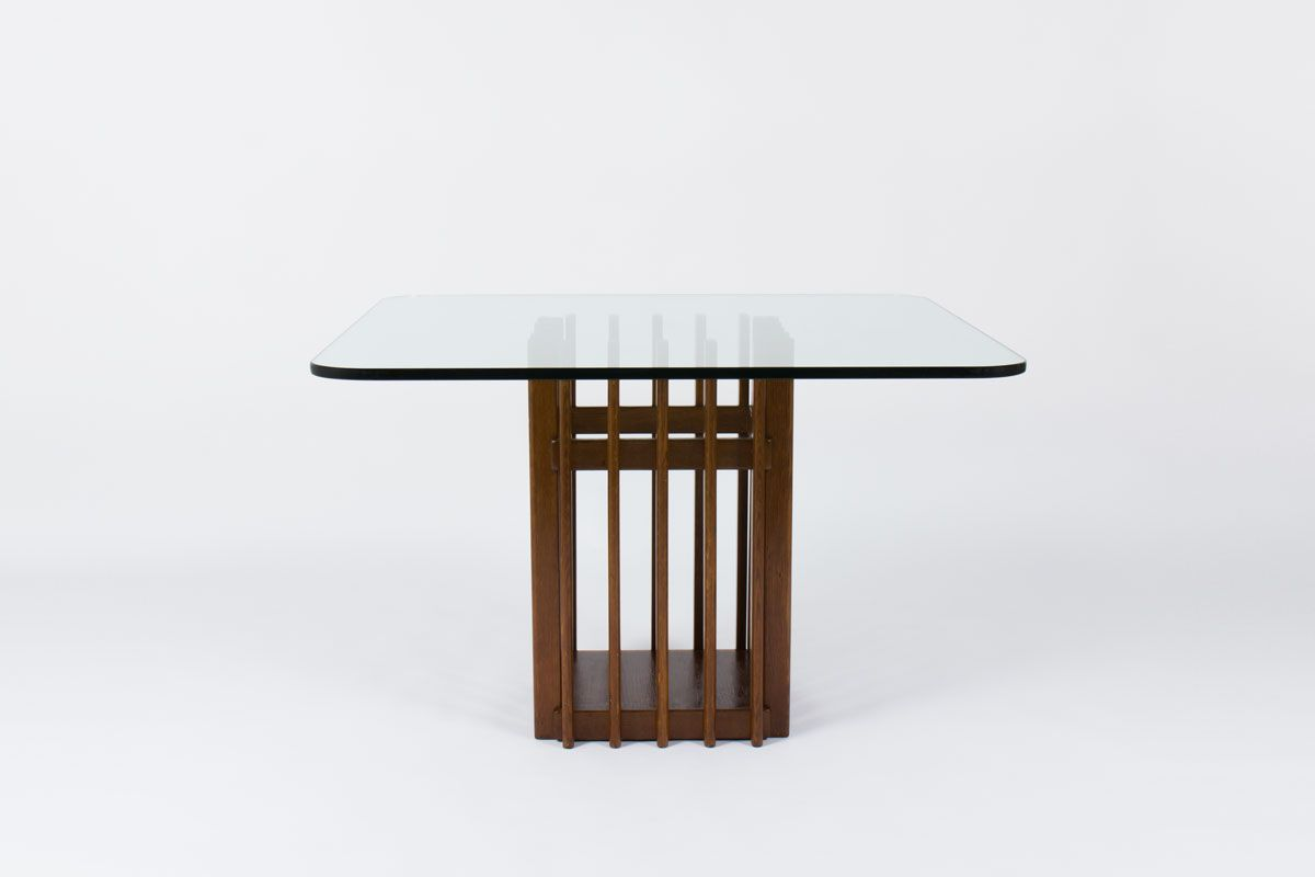Italian Oak amp Glass Dining Table 1950 for sale at Pamono : italian oak glass dining table 1950 1 from www.pamono.com.au size 1200 x 800 jpeg 36kB