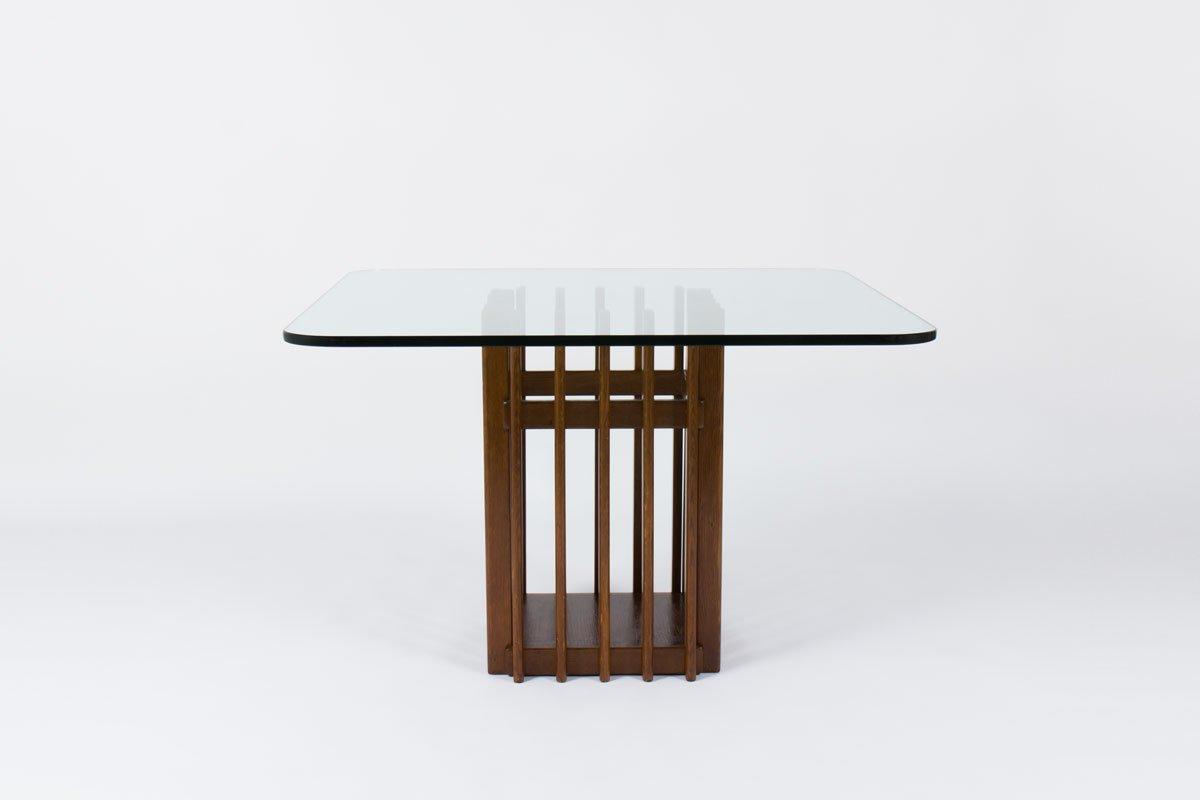 Italienischer esstisch aus eichenholz glas 1950 bei for Design esstisch x7