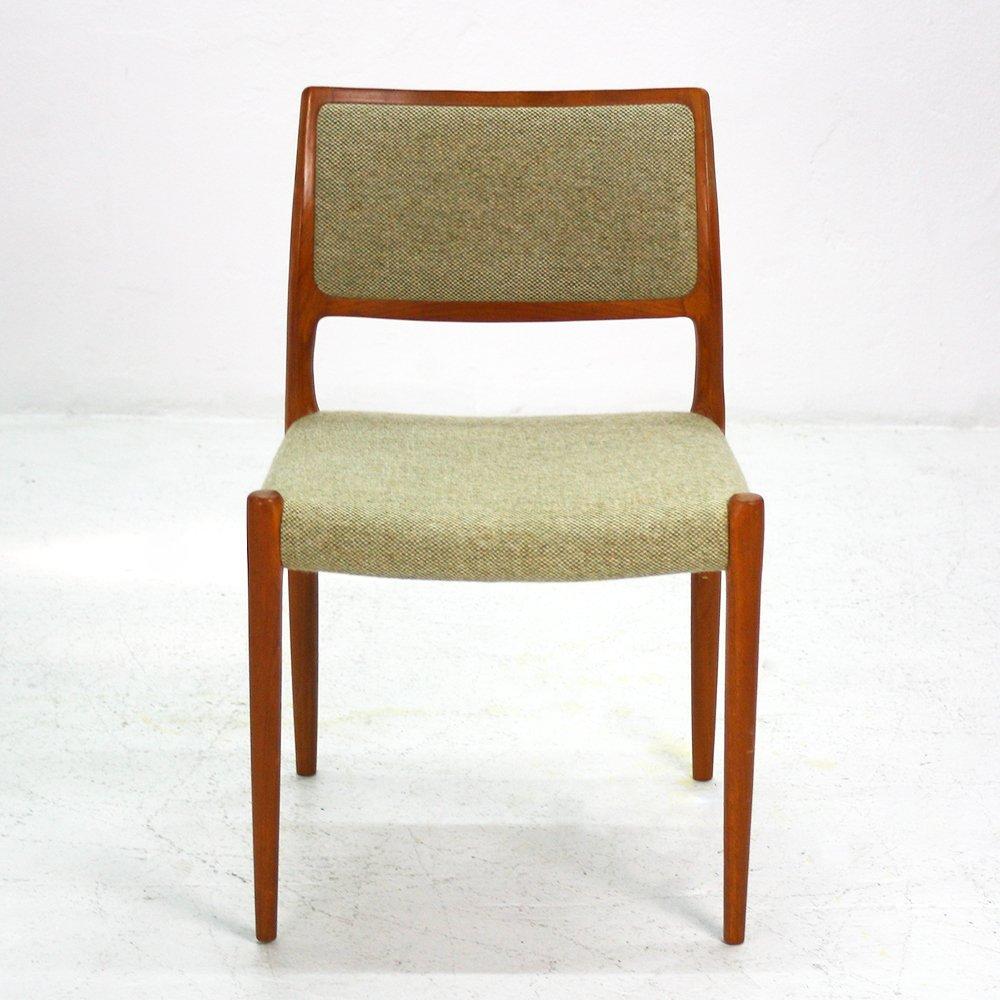 vintage teak dining chairs set of 4 for sale at pamono. Black Bedroom Furniture Sets. Home Design Ideas