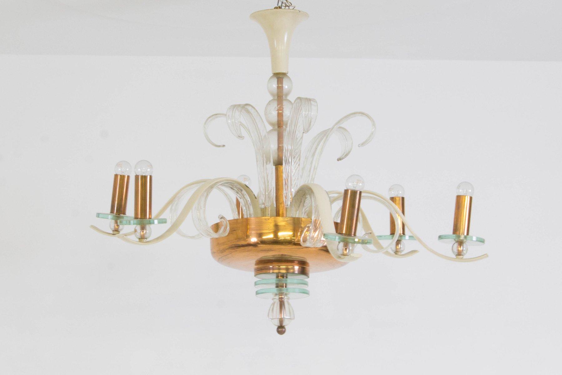 lustre en verre murano italie 1940s en vente sur pamono. Black Bedroom Furniture Sets. Home Design Ideas