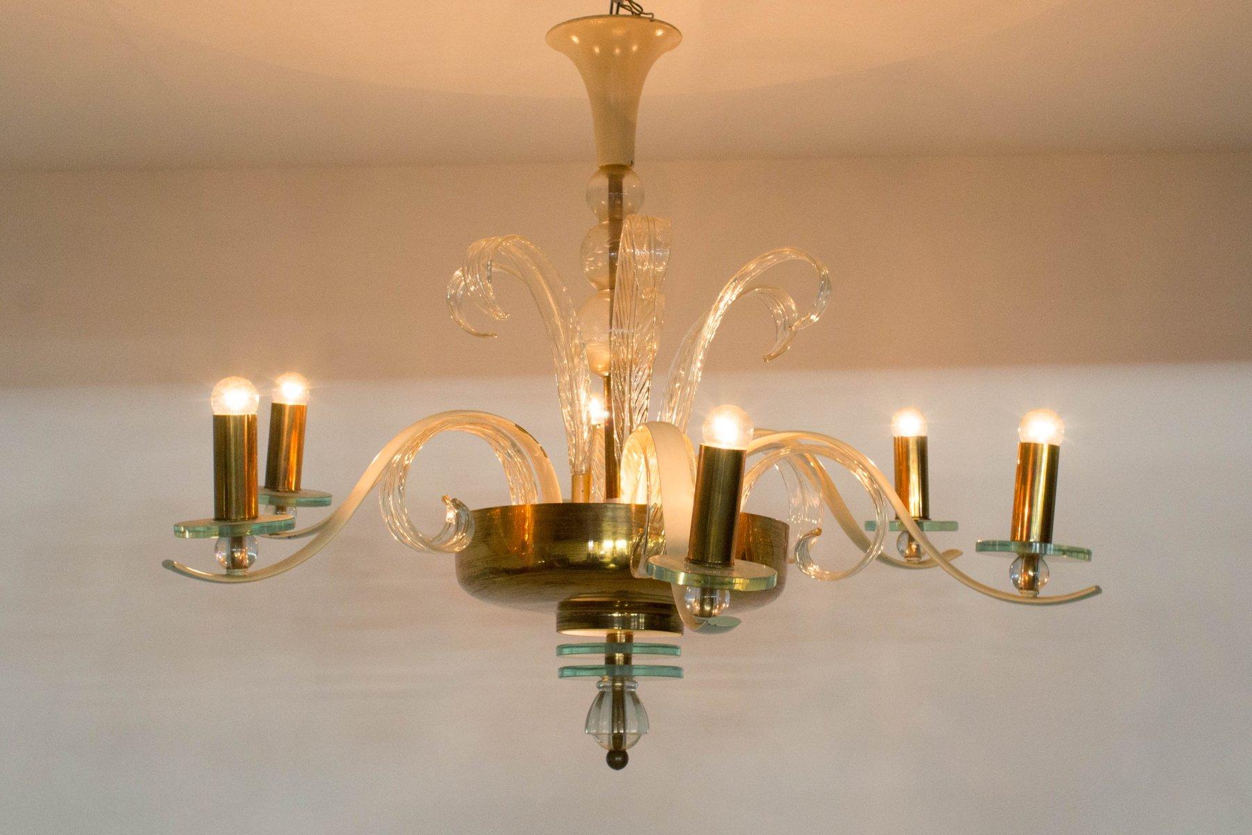 Italian Murano Glass Chandelier 1940s For Sale At Pamono
