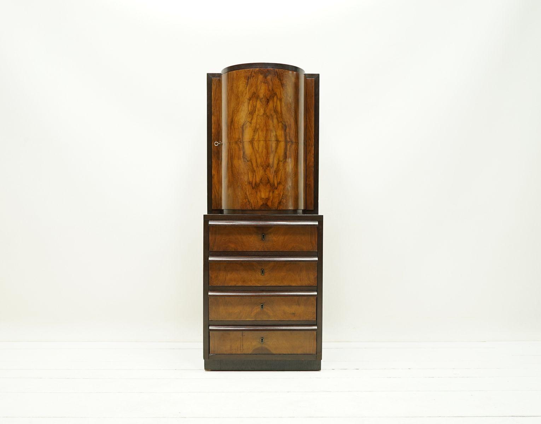 armoire de bar art d co 1930s en vente sur pamono. Black Bedroom Furniture Sets. Home Design Ideas