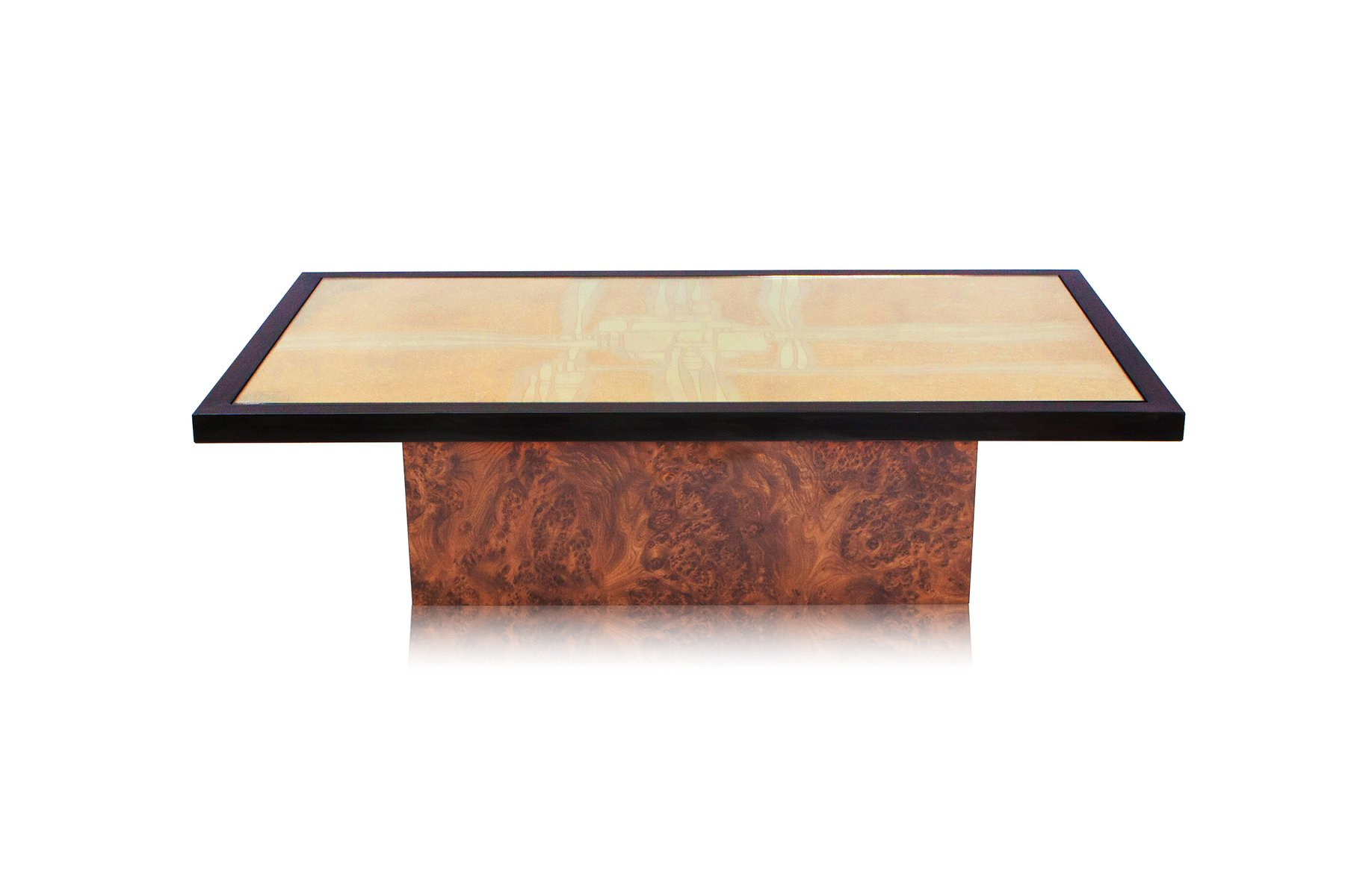 Etched Brass Coffee Table by Maho 1970s for sale at Pamono