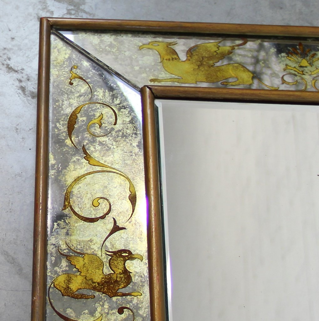 Venetian mirror with golden decorations 1940s for sale at for 1940s decoration