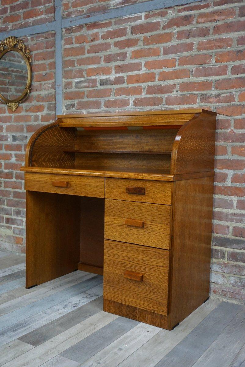vintage holz sekret r mit rollt r bei pamono kaufen. Black Bedroom Furniture Sets. Home Design Ideas