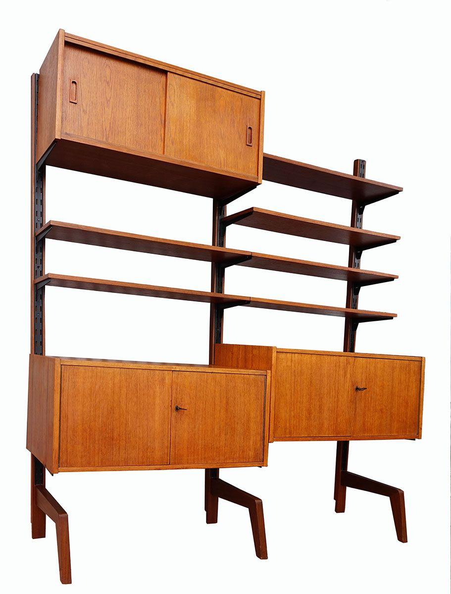 Modulares Vintage Teak Wandregal bei Pamono kaufen