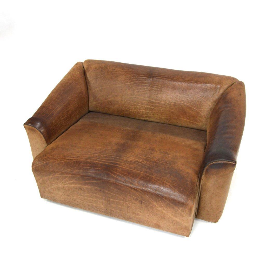 ds 47 2 sitzer sofa aus b ffelleder von de sede bei pamono. Black Bedroom Furniture Sets. Home Design Ideas