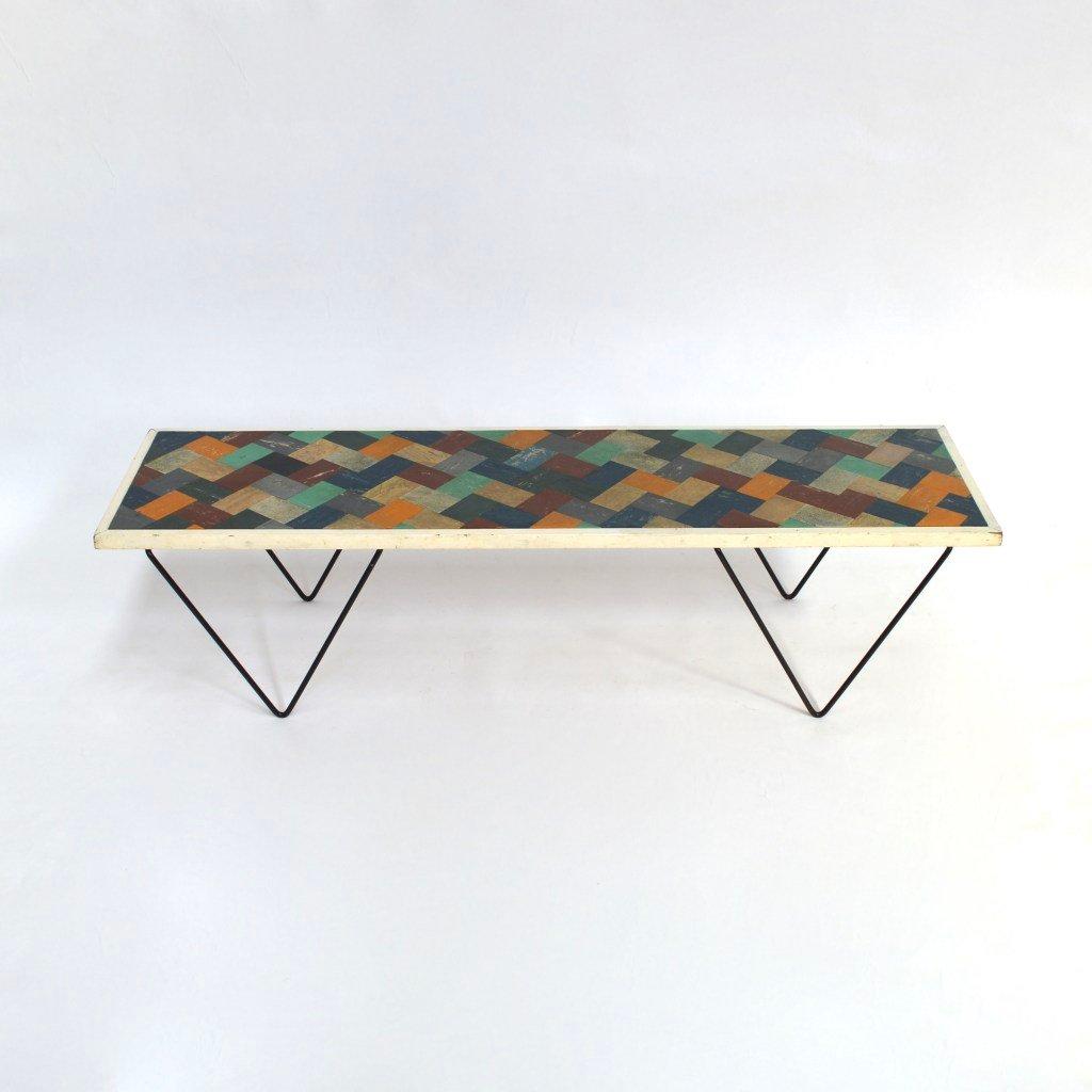 vintage linoleum couchtisch bei pamono kaufen. Black Bedroom Furniture Sets. Home Design Ideas