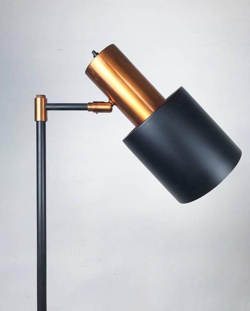 d nische studio stehlampe von jo hammerborg f r fog m rup 1977 bei pamono kaufen. Black Bedroom Furniture Sets. Home Design Ideas