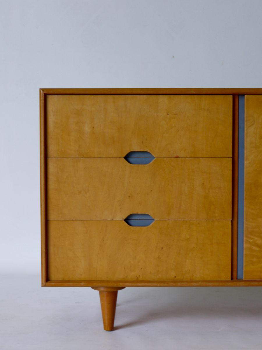Mid century beech maple sideboard for sale at pamono for Sideboard qr