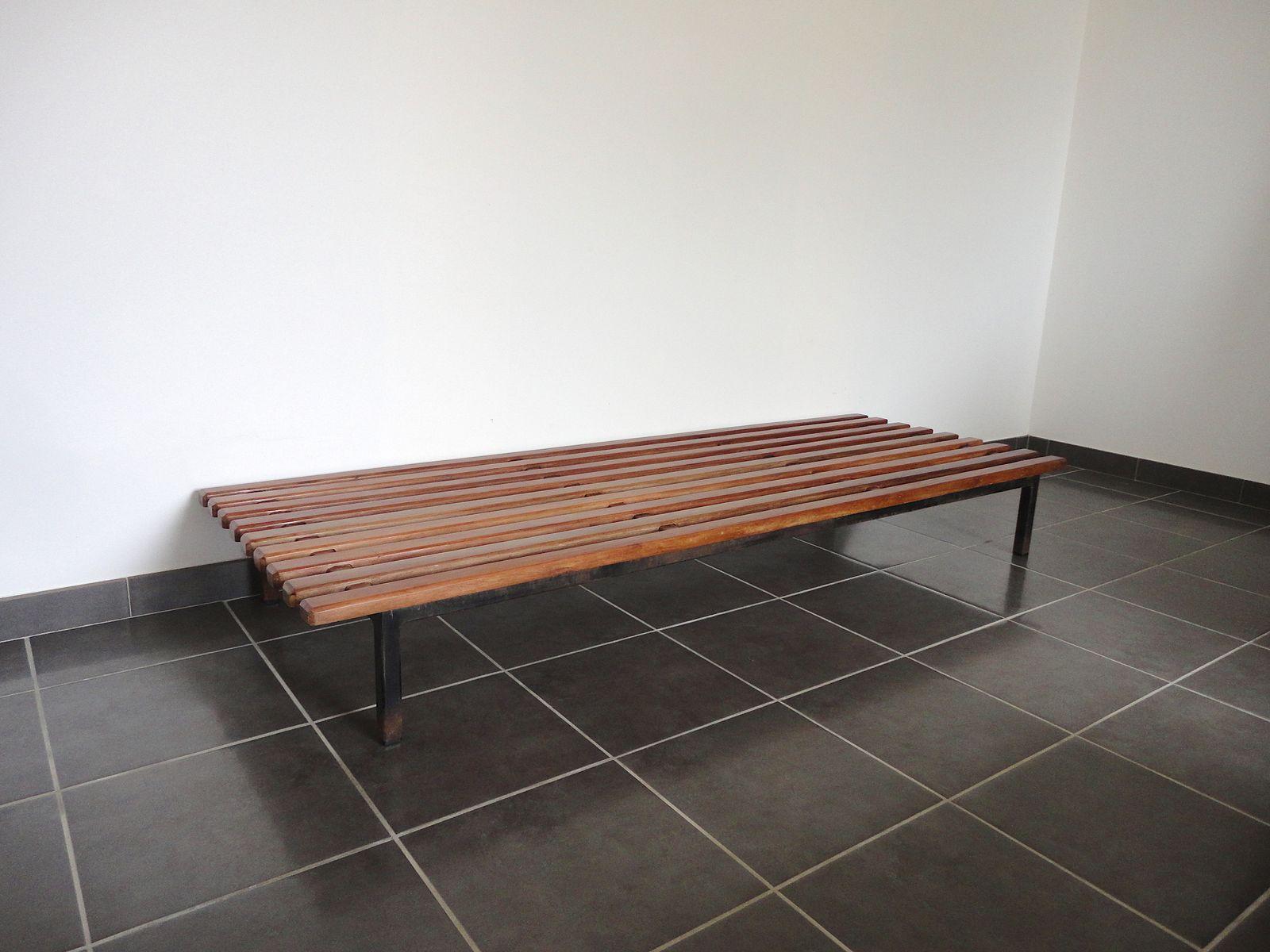 banc cansado mid century par charlotte perriand pour steph simon 1958 en vente sur pamono. Black Bedroom Furniture Sets. Home Design Ideas