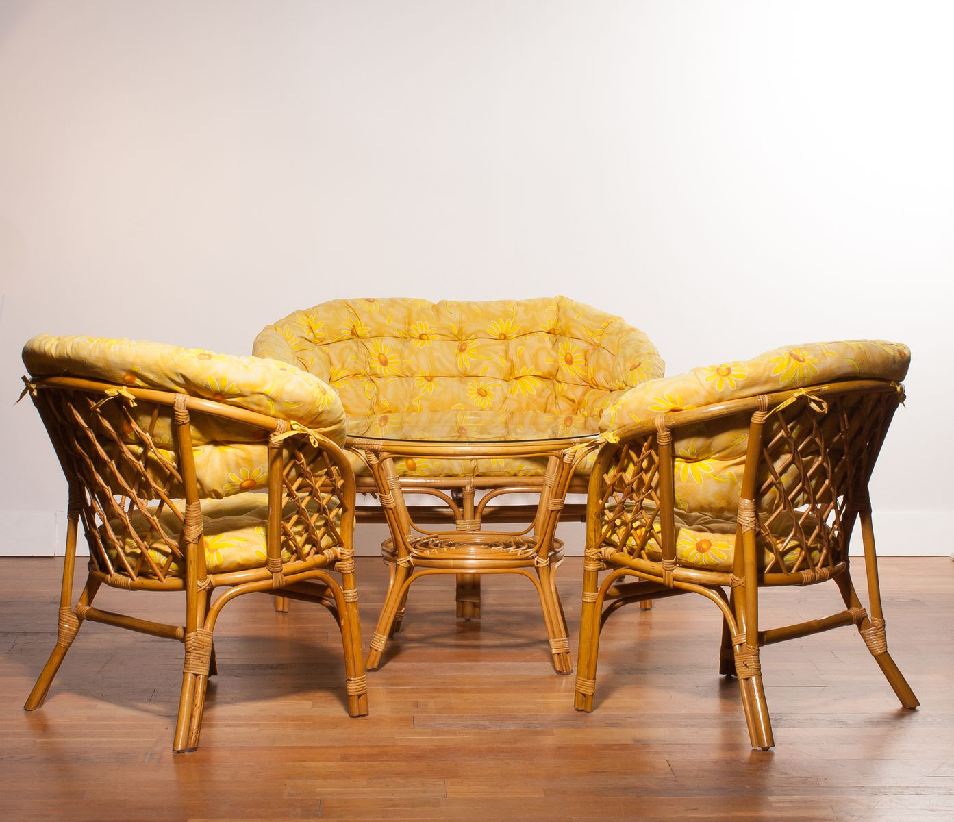 Bamboo and Rattan Garden Set, 1970s for sale at Pamono
