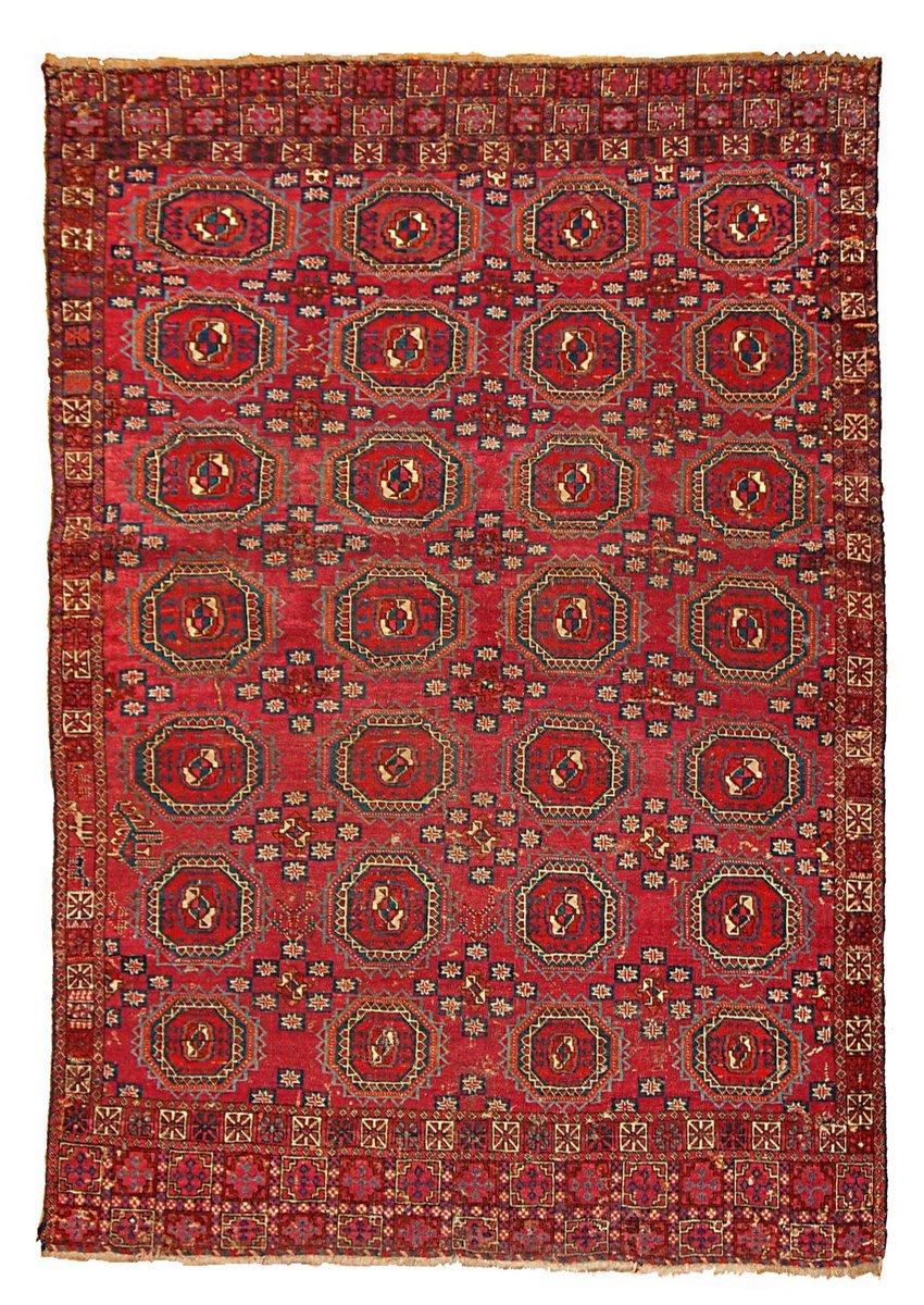 Tapis Antique Saryk Fait La Main Turquie 1850s En Vente Sur Pamono