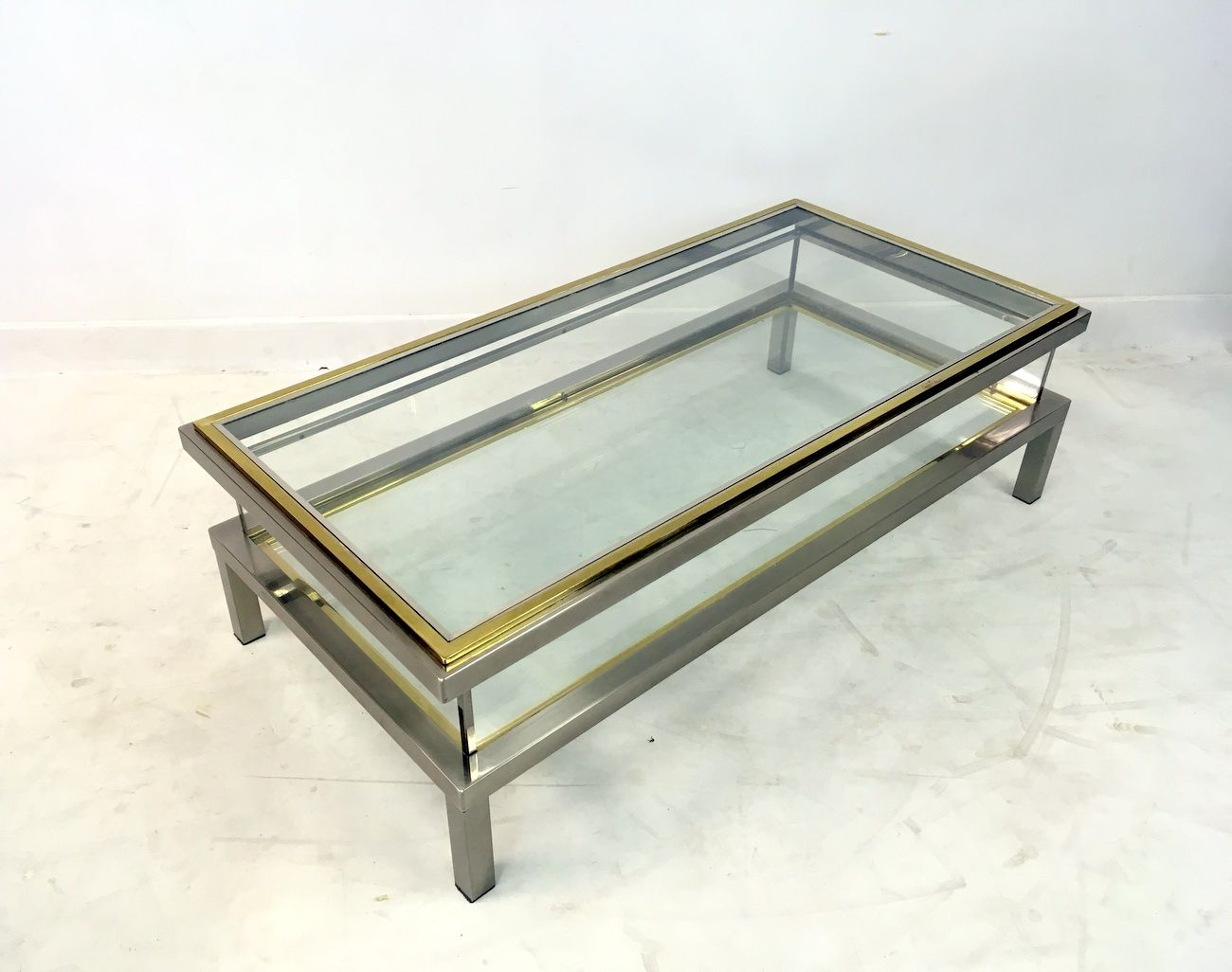 vintage french sliding top vitrine coffee table for sale at pamono. Black Bedroom Furniture Sets. Home Design Ideas
