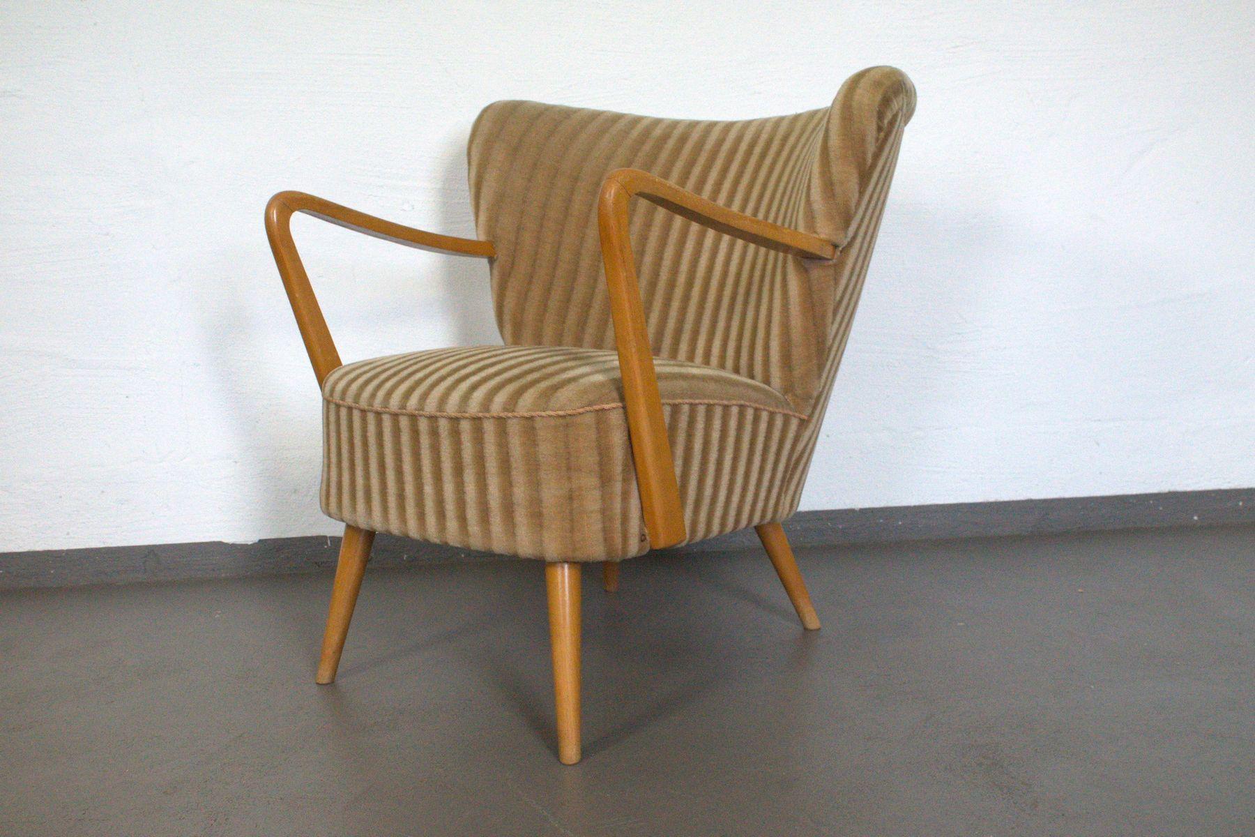 deutscher cocktailsessel in beige 1960er bei pamono kaufen. Black Bedroom Furniture Sets. Home Design Ideas