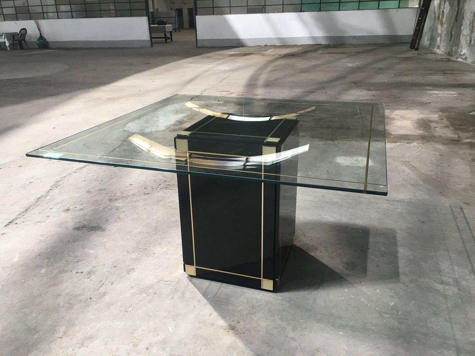 Italienischer tisch mit glasplatte 1970er bei pamono kaufen for Glasplatte tisch