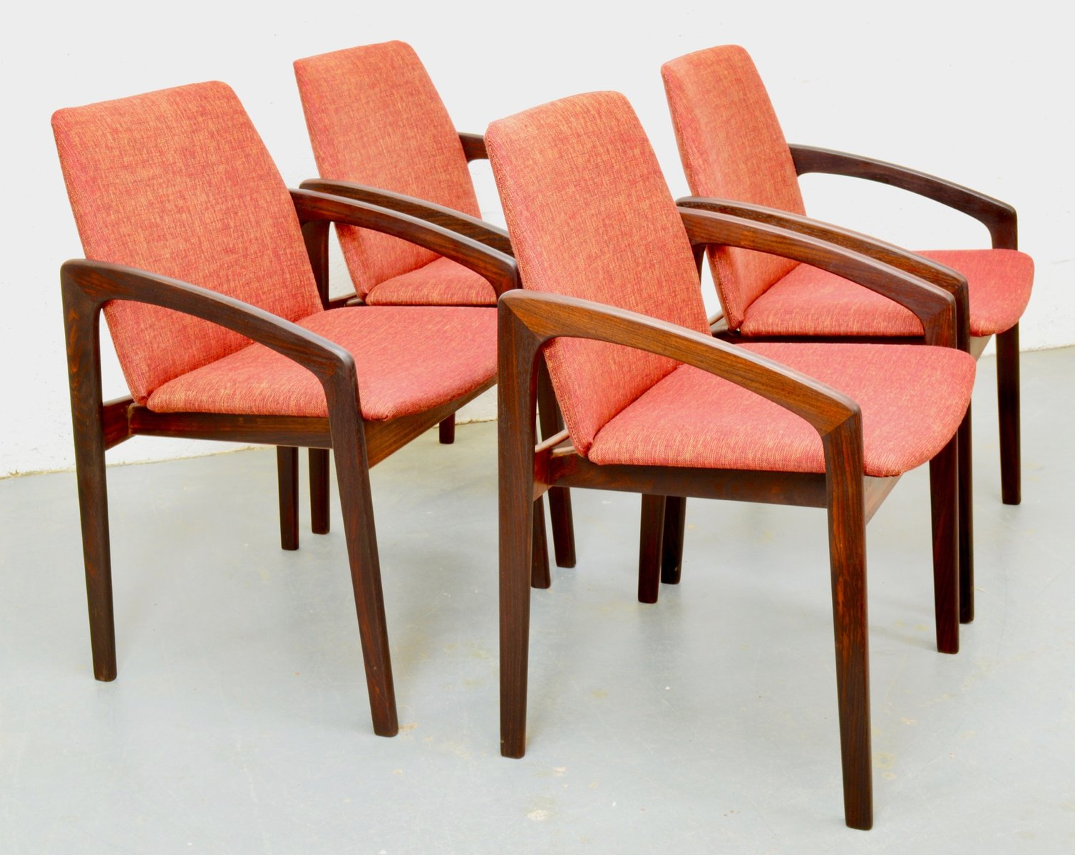 Mid Century Rosewood Danish Chairs By Kai Kristiansen For Korup Set Of 4 For