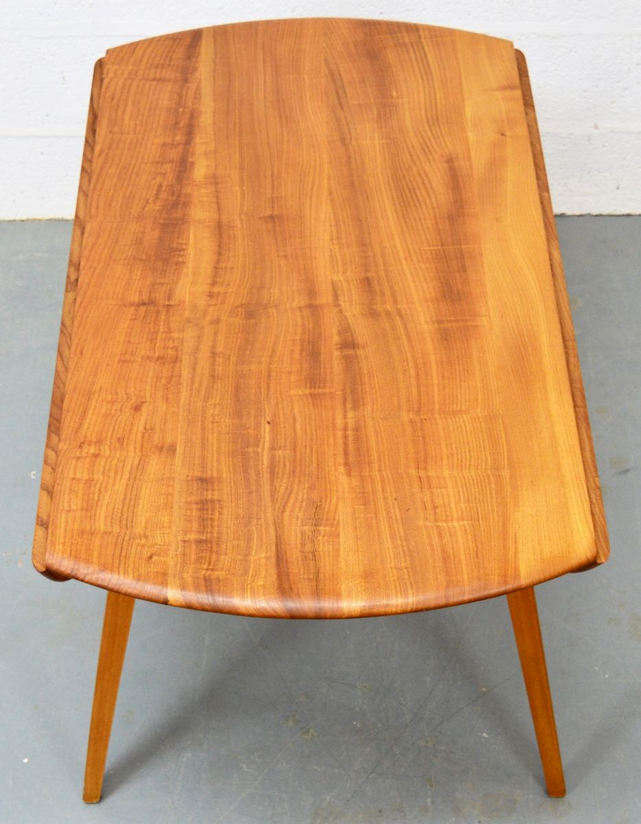 Mid Century Elm Dining Table And Chairs From Ercol For Sale At Pamono